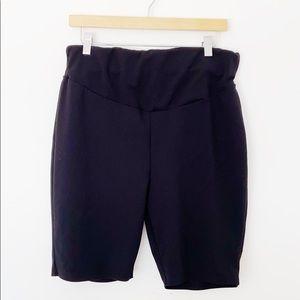 Boohoo Plus Size Biker Cycling Black Shorts Sz14